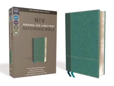 NIV Comfort Print Personal Size Reference Bible, Large Print, Imitation Leather, Blue  -