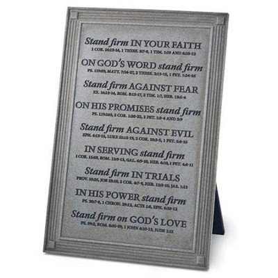 Stand Firm Plaque  -