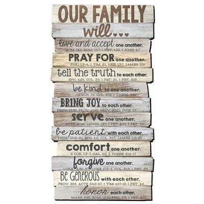 Beau Our Family Will Love Wall Art Sign