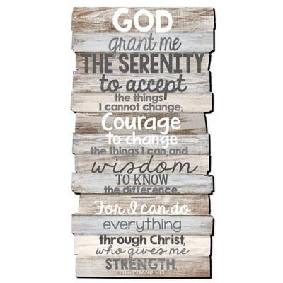 Serenity Prayer Stacked Words Wall Art  -