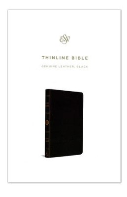 ESV Thinline Bible, Genuine Leather, Black   -