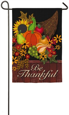 Be Thankful Flag, Small  -     By: Lori Seibert
