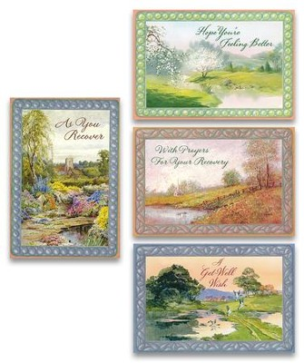 Get Well, Waters Of Life Cards, Box of 12  -