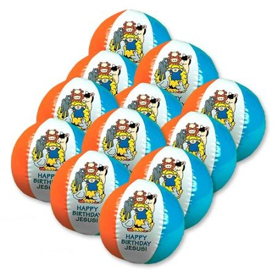 Happy Birthday Jesus Beach Ball, Pack of 12  -