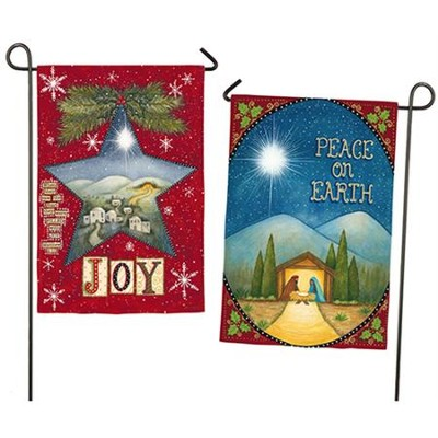 Peace On Earth & Joy Flag, Small  -     By: Annie LaPoint