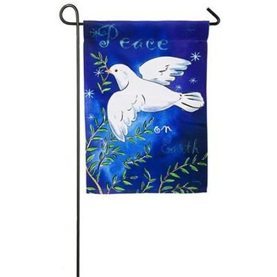 Peace On Earth Flag, Small  -     By: Jane Maday