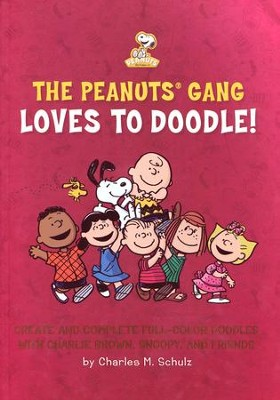 The Peanuts Gang Loves to Doodle: Create and Complete Full-Color Pictures with Charlie Brown, Snoopy, and Friends  -