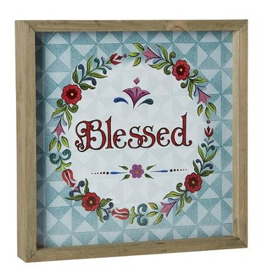 Blessed, Jim Shore Framed Print  -     By: Jim Shore