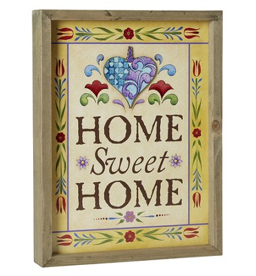 Home Sweet Home, Jim Shore Framed Print  -     By: Jim Shore
