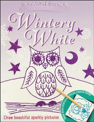 Scratch & Stencil: Wintery White  -