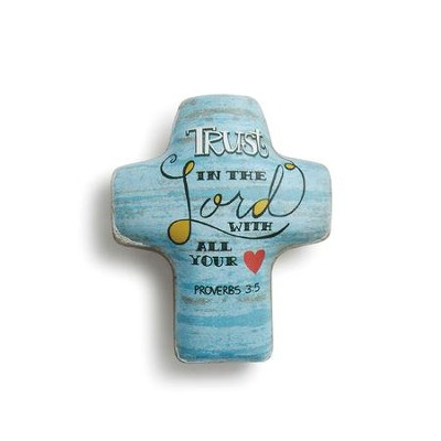 Trust in the Lord with All Your Heart, Artful Cross Token  -