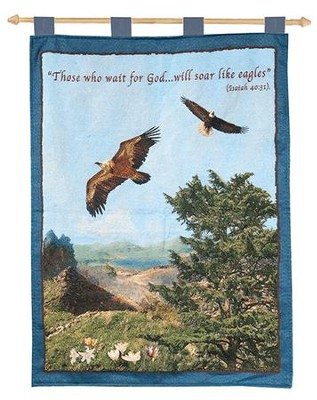 Eagle Tapestry Banner, Isaiah 40:31   -