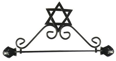 Metal Star of David Banner Hanger   -