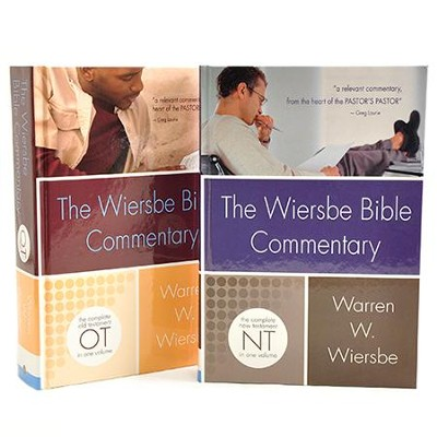 The Wiersbe Bible Commentary, 2 Volumes with CD-ROM   -     By: Warren W. Wiersbe