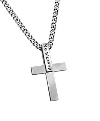 No Weapon I.D. Cross Necklace  -
