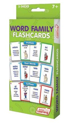 Word Family Flashcards (162 cards)   -     By: Dr. Duncan Milne