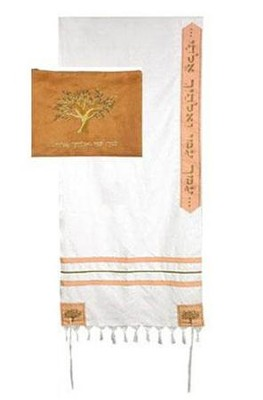 Ruth Tallit w/Velvet Bag Set, 24 Shawl   -