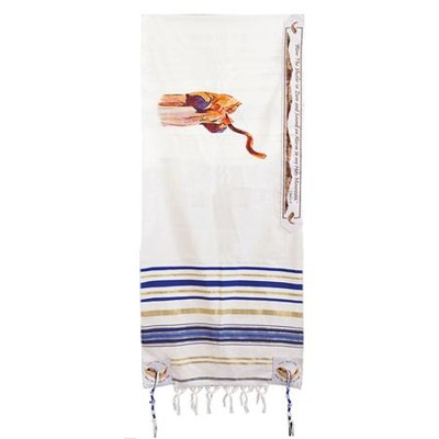 Blowing the Shofar Tallit 24 Acrylic Printed   -