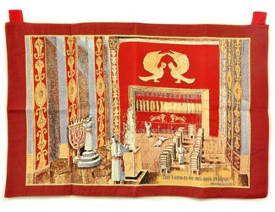 Holy Temple Tapestry Banner Tabernacle  Woven for Indoor use  -