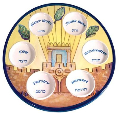 Holy Temple Passover Plate    -