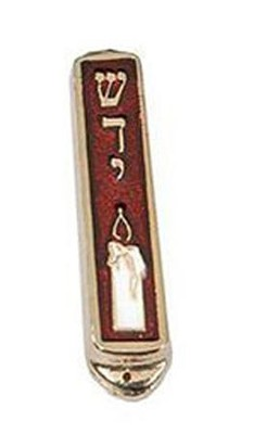 Car Mezuzah, Candle, Red   -