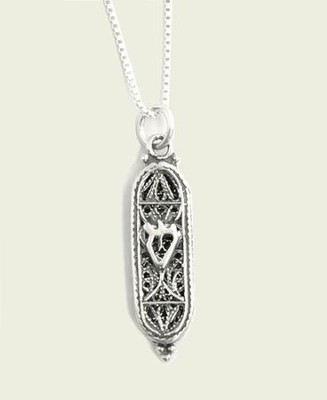 Mezuzah Shin Necklace   -