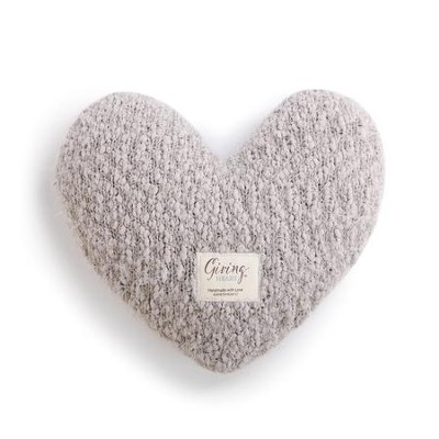 Giving Heart Pillow, Taupe  -