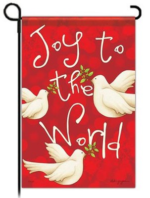 Joy to the World Garden Flag, Doves   -     By: Deb Grogan