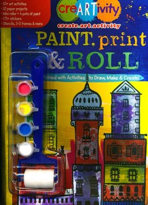 Paint, Print & Roll Activity Book  -