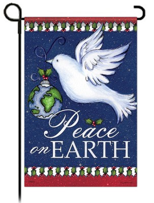 Peace on Earth Dove Flag, Small   -     By: Laurie Furnell