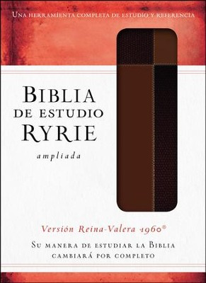 Biblia de estudio Ryrie ampliada RVR 1960, Marr&#243n con &#205ndice (The Ryrie Study Bible, Brown Duo-tone with Index)  -     By: Charles Ryrie