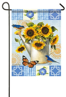 Sunflower Garden Flag, Small  -     By: Sandy Clough