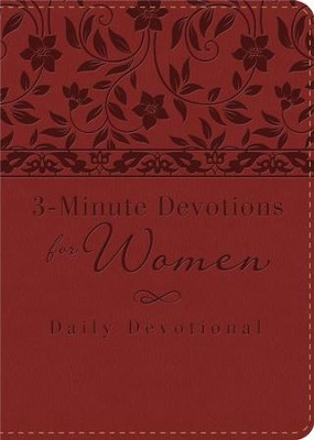 3-Minute Devotions for Women: Daily Devotional (burgundy) - eBook  -