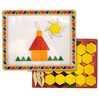 Magnetic Pattern Blocks Set  -     By: Melissa & Doug