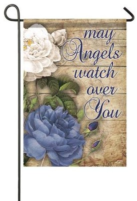 May Angels Watch Over You Flag, Small  -     By: Jace Grey