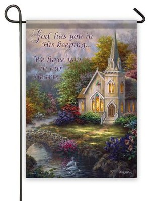In Our Hearts Flag, Small  -     By: Nicky Boehme