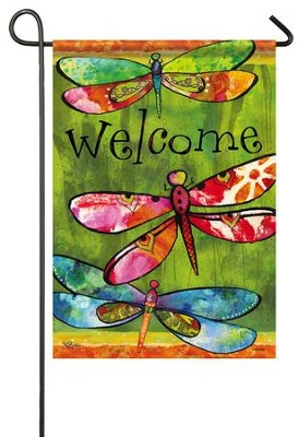 Welcome, Dragonfly Friends Flag, Small  -     By: Sue Zipkin