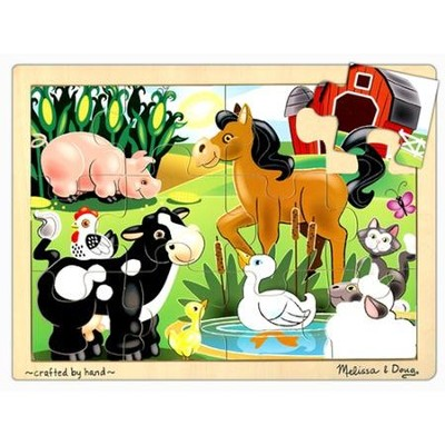 On the Farm Jigsaw Puzzle (12 pc)   -     By: Melissa & Doug