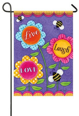 Live Laugh Love Flag, Small  -     By: Deb Grogan