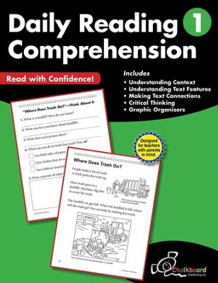 Daily Reading Comprehension Workbook, Grade 1   -