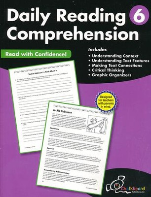 Daily Reading Comprehension Workbook, Grade 6   -