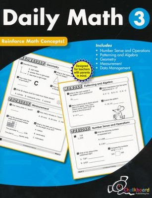 Daily Math Workbook, Grade 3   -