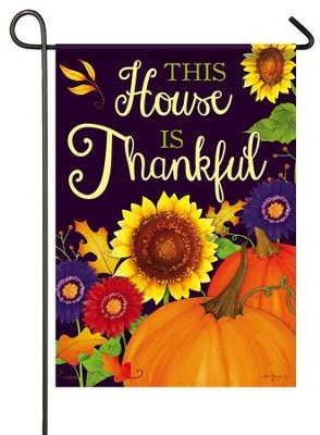 This House Is Thankful Flag, Small  -     By: Deb Grogan