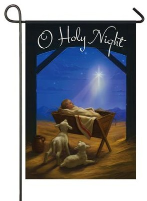 O Holy Night Flag, Small  -     By: Alan Lathwell