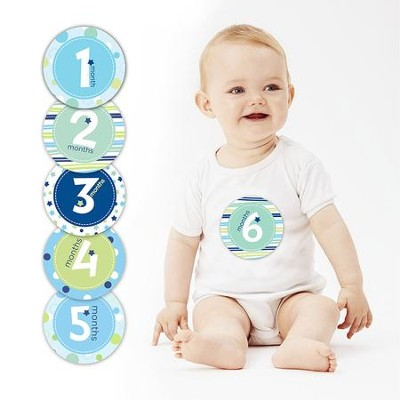 Baby Milestone Stickers, Blue  -