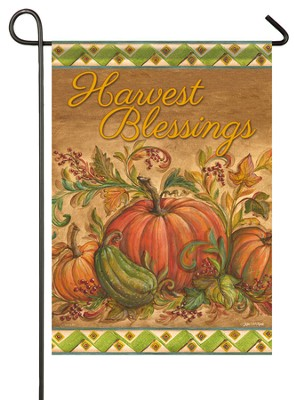 Harvest Blessings, Pumpkins Flag, Small  -     By: Kate McRostie