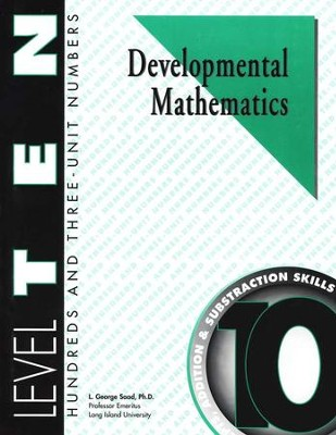 Developmental Math, Level 10, Student Workbook   -     By: L. George Saad
