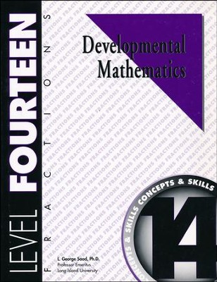 Developmental Math, Level 14, Student Workbook   -     By: L. George Saad
