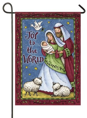 Joy To the World Flag, Small  -     By: Tina Wenke