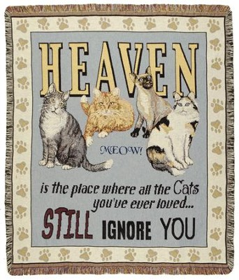 Cats In Heaven Throw  -